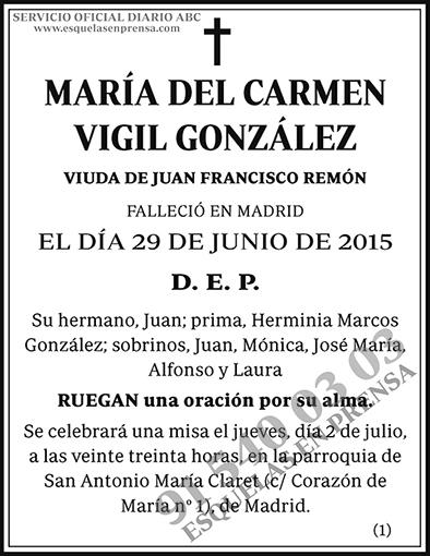 María del Carmen Vigil González